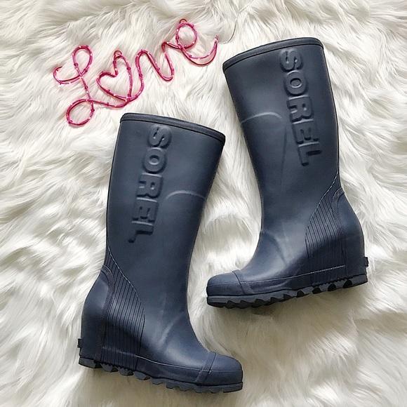 c4375246f2bc Sorel joan tall rain wedge boots